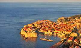 Amazing view of Dubrovnik old town at sunrise Royalty Free Stock Photo