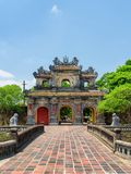Amazing view of the East Gate (Hien Nhon Gate), Hue. Amazing view of the East Gate (Hien Nhon Gate) to the Citadel with the Imperial City on summer sunny day in stock photo