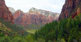 Amazing view of Emerald Pools Trail, Zion National Park, Utah royalty free stock photo