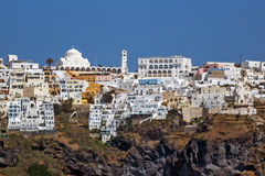Amazing view of Fira town in Sanorini island, Thira, Greece Stock Image