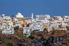 Amazing view of Fira town in Sanorini island, Thira, Greece Stock Image