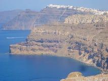 Amazing view of Fira village at Santorini Stock Photos