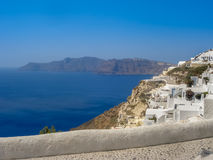 Amazing view of Fira village at Santorini Royalty Free Stock Images
