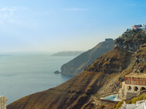 Amazing view from Fira village at Santorini Royalty Free Stock Photo