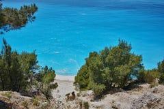 Amazing view of Gialos Beach, Lefkada,  Greece Stock Photo