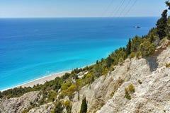 Amazing view of Gialos Beach, Lefkada, Greece Royalty Free Stock Photography