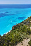 Amazing view of Gialos Beach, Lefkada, Ionian Islands Stock Photos
