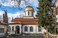 Amazing view Golden Dome of The Fish Church, St. Mary the Annunciation, Asenovgrad, Bulgaria. Amazing view Golden Dome of The Fish Church, St. Mary the royalty free stock photography