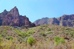 Amazing view on Grand Canyon, Arizona Blue sky background. Beautiful nature backgrounds.n stock photo