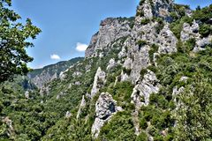 Mountains at Greece royalty free stock image