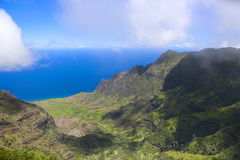Amazing view of Hawaiian island Royalty Free Stock Images