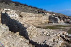 Heraclea Sintica - Ruins of ancient Greek polis,  located near town of Petrich, Bulgaria. Amazing view of Heraclea Sintica - Ruins of ancient Greek polis Royalty Free Stock Photography