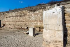 Heraclea Sintica - Ruins of ancient Greek polis,  located near town of Petrich, Bulgaria. Amazing view of Heraclea Sintica - Ruins of ancient Greek polis Royalty Free Stock Photo