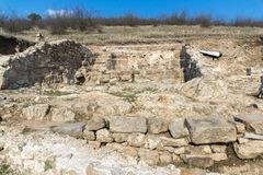 Heraclea Sintica - Ruins of ancient Greek polis,  located near town of Petrich, Bulgaria. Amazing view of Heraclea Sintica - Ruins of ancient Greek polis Royalty Free Stock Image