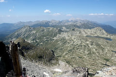 Amazing view from Kamenitsa  peak in Pirin Mountain Stock Image