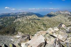 Amazing view from Kamenitsa  peak in Pirin Mountain Stock Photo