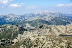 Amazing view from Kamenitsa  peak in Pirin Mountain Royalty Free Stock Photography