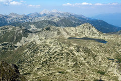 Amazing view from Kamenitsa  peak in Pirin Mountain Royalty Free Stock Photos