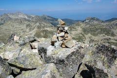 Amazing view from Kamenitsa  peak in Pirin Mountain Stock Images