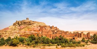 Amazing view of Kasbah Ait Ben Haddou near Ouarzazate in the Atl royalty free stock photo