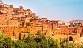 Amazing view of Kasbah Ait Ben Haddou near Ouarzazate in the Atl stock photography