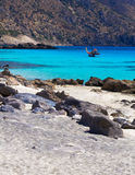 Amazing view of Kedrodasos beach, island of Crete Royalty Free Stock Photo
