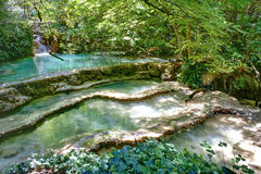 Amazing view of Krushuna Waterfalls, near the city of Lovech Royalty Free Stock Photo