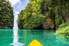 Amazing view of lagoon in Koh Hong island from kayak. Location: Stock Photos