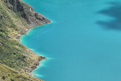 Amazing view of  lake of the Quilotoa caldera Royalty Free Stock Images