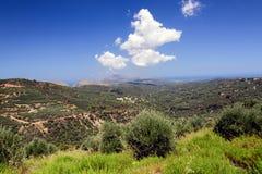Amazing view on landscape of Crete island, Greece Royalty Free Stock Image