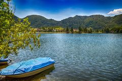 Free Amazing View Landscape With Beatiful View Of Lake Of Idro In North Of Italy Royalty Free Stock Images - 160145949