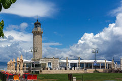 Amazing view of Lighthouse in Patras, Peloponnese, Greece Royalty Free Stock Images