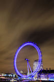 Amazing view of London Eye at night Royalty Free Stock Images