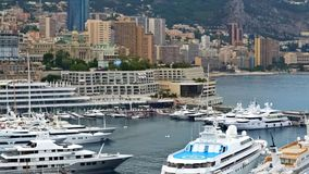 Amazing view on luxury yachts and hotels in Monaco city, resort town, tourism. Stock photo stock images