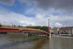 Amazing Lyon bridge Royalty Free Stock Photography