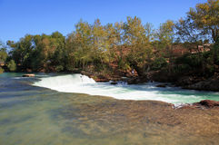 Amazing view of Manavgat waterfall Royalty Free Stock Images