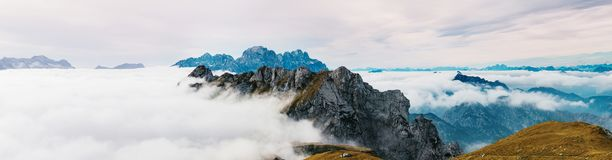 Amazing view from Mangart Royalty Free Stock Photography