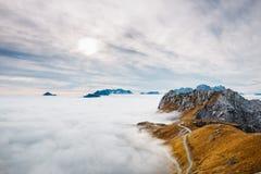 Amazing view from Mangart Stock Image
