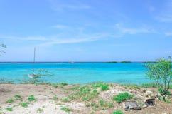 Amazing view of the Mangel Halto beach in Aruba Royalty Free Stock Photos