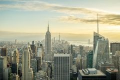 Amazing view on Manhattan as seen from top of Rockeffeler Center royalty free stock photo