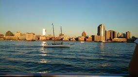 Amazing view of Manhattan New York skyline. Royalty Free Stock Images