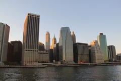 Manhattan New York skyline Stock Photos