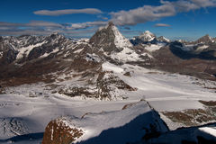 Amazing view of Matterhorn peak, Valais Royalty Free Stock Image