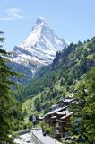 The Matterhorn summit in Zermatt, Switzerland royalty free stock photography