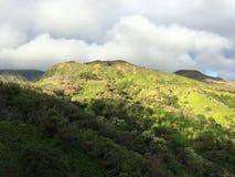 Amazing view of Maui mountains. Start of Waihe'e ridge trail stock image