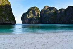 Amazing view of empty Maya Bay royalty free stock images