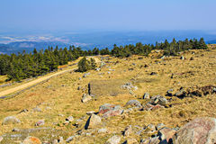 Amazing view at the mount Brocken stock image