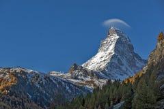 Amazing view of mount Matterhorn, Alps, Switzerland Stock Photos