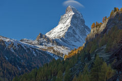 Amazing view of mount Matterhorn from Zermatt, Alps Stock Photos