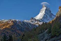 Amazing view of mount Matterhorn from Zermatt, Alps Royalty Free Stock Photo
